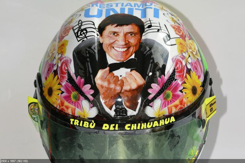 Новая аэрография шлема Валентино Росси