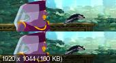 Три богатыря и Шамаханская царица в 3Д / 3D  Вертикальная анаморфная